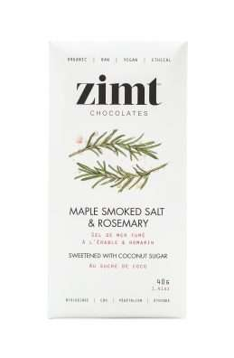Smoked Vegan Chocolates - The Zimt Maple Smoked Salt and Rosemary Cacao Bars are Raw and Vegan