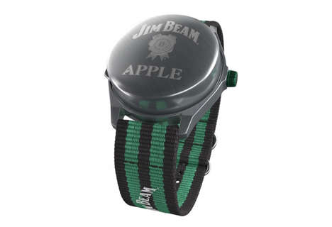 Satirical Shooter Watches - Jim Beam's Apple Watch Parodies the Wearable With a Metal Shot Glass