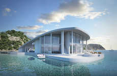 Floating Luxury Residences - The 'Sting Ray' Water Homes Provide a Levitating Sting Ray Shape