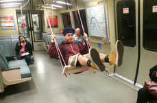 Swinging Subway Seats - The BART Subway System Adds a Swing in The Middle of a Train Car