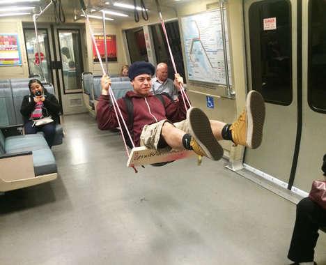 Swinging Subway Seats