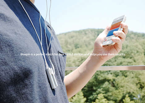 Wireless Headphone Remotes - The Bluepin Turns Touch Earbud Commands Into Bluetooth Instructions