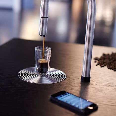Smart Tap Coffee Machines - The TopBrew Coffee Sink System Accepts Smartphone Commands