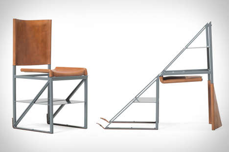 Staircase Seating Solutions - The Stephen Kenn x Victorinox Stepladder Chair is Multipurpose