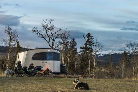 Modern Mini Camping Trailers - The Airstream Basecamp is a Camper for Young Adventurers