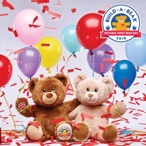 Commemorative Toy-Building Promotions - This In-Store Promotion Celebrates National Teddy Bear Day