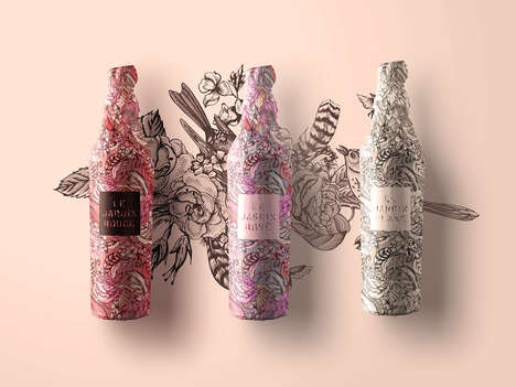 Floral Wine Concepts - This Concept Wine Brand is Inspired by Tattoos and Gardens
