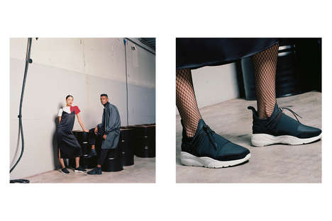 Eclectic Exclusive Footwear - Filling Pieces' Sleek Sneaker Series Was Promoted with Stylish Imagery