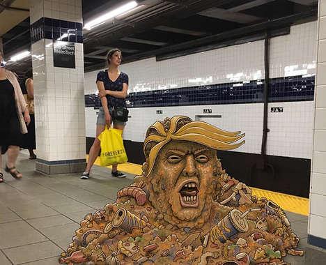 Subway Ride Illustrations