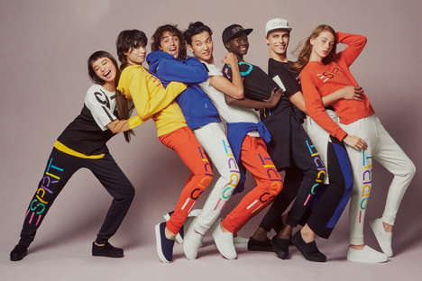 Energetic Brand-Centered Editorials - Opening Ceremony Brought Back Esprit Clothing with New Twists