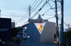 Corner-Cutting Houses - Kenta Eto's OJI House Has a Truncated Corner That Gives Way to a Tree