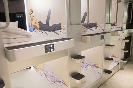 Anime-Themed Capsule Hotels - This Women-Only Hotel Features Anime Men Next to the Beds
