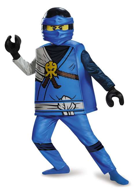 Detailed Toy Costumes - The Jay Delux Ninjago LEGO Halloween Costume is Realistic