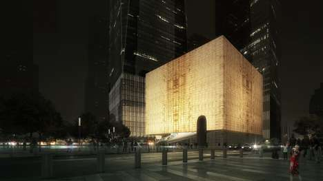 Translucent Marble Cube Buildings - REX Designed the Ronald O. Perelman Performing Arts Center