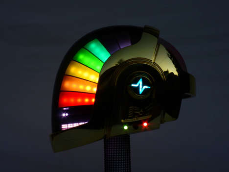 DIY Electronic Helmets - These Interactive and Iconic Helmets are Inspired by Daft Punk