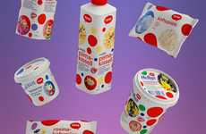 Bubbly Dairy Branding - The Tere Dairy Company Packaging Visually Connects Products for Consumers