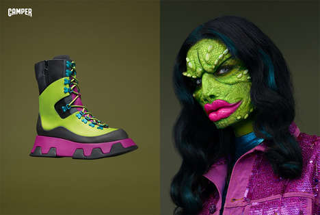 Humanized Footwear Editorials - This Camper Shoe Campaign Brings Footwear to Life