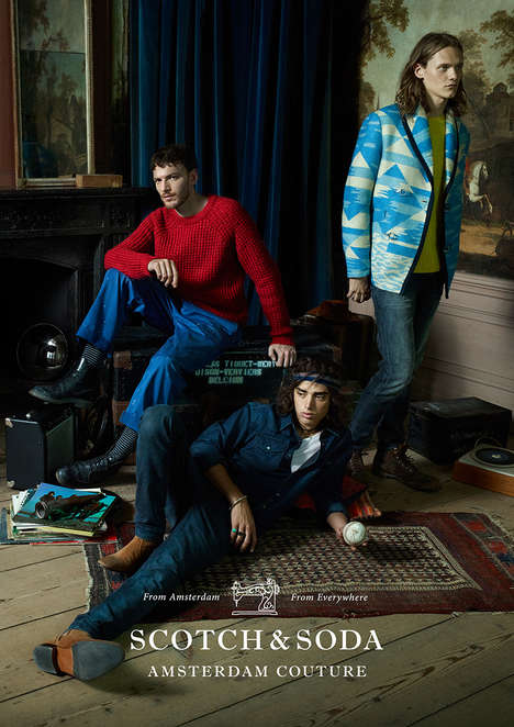 Playfully Sophisticated Editorials - The New Scotch & Soda Collection Boasts Bold Colors and Prints