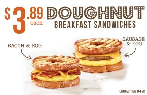 Glazed Breakfast Sandwiches - Country Style's New Doughnut Breakfast Sandwiches are Sweet and Savory