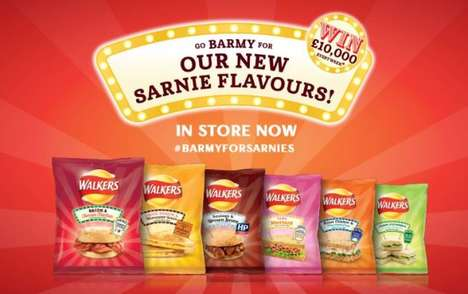 Sandwich-Inspired Potato Chips - Walkers' Potato Chip Snack Line Takes Inspiration from Sandwiches