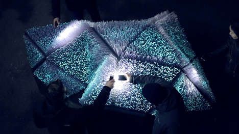 Bioluminescent Light Installations - 'Light Pollination' is on Display at the London Design Festival