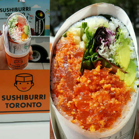 Sushi Burrito Food Trucks - The Sushiburri Truck in Toronto Serves Japanese-Mexican Fusion Cuisine
