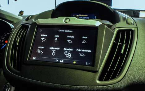 Gesture-Control Car Dashboards - Visteon Gesture-Control Technology Enhances the in-Car Experience