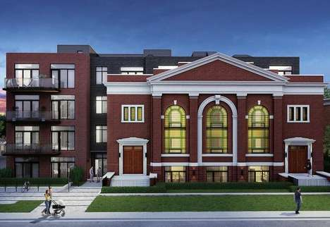 Repurposed Sunday School Condos - 'Sunday School Lofts' Will Use an Early 20th Century Church Facade