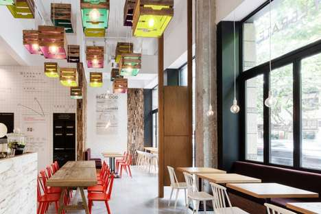 Modernized Rustic Cafes - This Cafe Space Combines Contemporary Elements with Rustic Decor