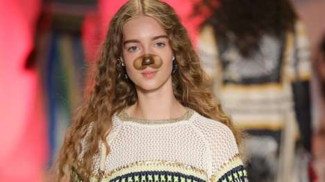 Fashion Show Snapchat Interpretations - The Desigual Fashion Show Reveals Models Wearing Filters