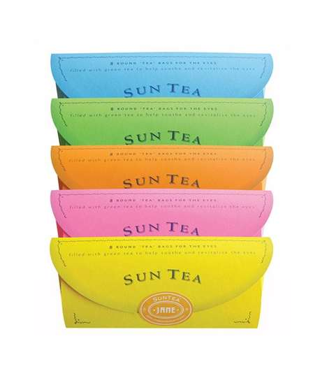 Soothing Under Eye Teabags - The Sun Teas Provide Herbal Compresses to Naturally Restore Tired Eyes