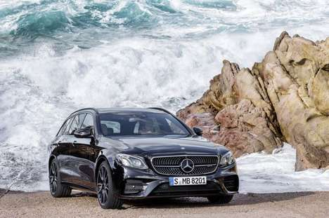 Supercharged Family Sedans - The Mercedes AMG E43 4Matic Saloon and Estate Vehicles are Powerful