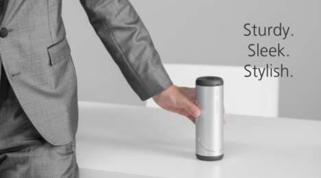 Conical Magnetic Sound Systems - The 'DUOECHO' Stereo Speakers are Compact for Use Anywhere