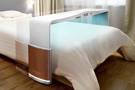 Sheet-Sterilizing Bed Tables - The Bed Care Table Sanitizes and Vacuums Bed Surfaces