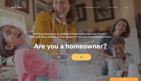 Home Equity Financial Services - 'Point' Prevents People from Taking on Debt when Purchasing a Home