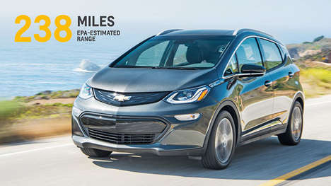 Extended Range Electric Cars - The New Chevrolet Bolt EV Range is an Estimated 238 Miles Per Charge