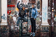 NYC Denim Editorials - AG Jeans Used the Graffiti-Covered Streets of NYC for Its Backdrop