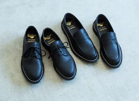 Co-Branded Leather Loafer Shoes - nanamica Joined with Dr. Martens for Two Business-Ready Designs