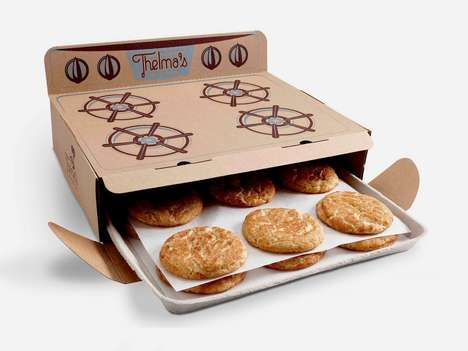 Oven-Shaped Cookie Boxes - Thelma's Treats Uses Clever Packaging to Promote Its Freshly Made Cookies