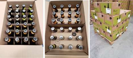 Suspension eCommerce Packaging - The Brewhive Shipping Bottle Boxes Ensure No Broken Bottles