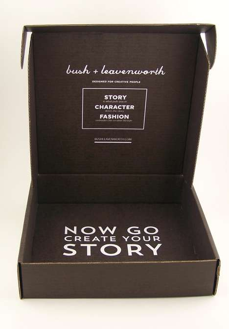 Conversational Clothing Shipping Boxes - The Bush & Leavenworth Clothes Packaging is Encouraging