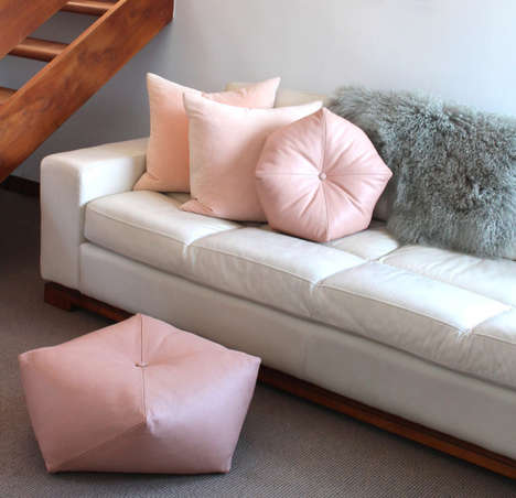 Geometric Pouf Collections - This Collection Reveals Modern Poufs and Cushions for the Home