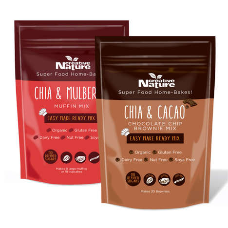 Superfood Baking Mixes - Creative Nature's Healthy Baking Mix Products Feature Chia and Cacao