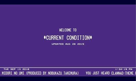 Abstractly Soothing Websites - 'Current Condition' Plays Relaxing Music and Gives Random Data