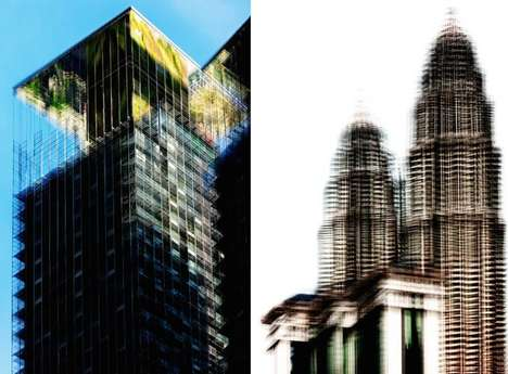 Distorted Skyscraper Photography - The 'Kuala Lumpur Deconstruction' Focuses On Local Architecture