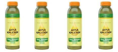 Raw Superfood Lemonades - The Honeydrop Apple Kale'Ade Is a Healthy Citrus Juice Alternative