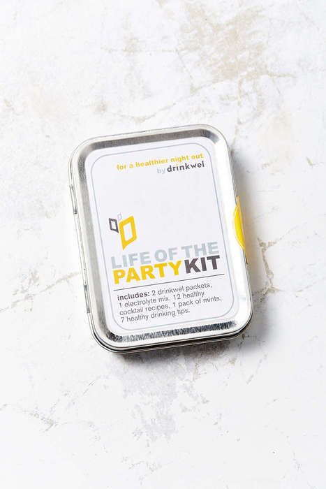 Compact Hangover Kits - Drinkwel's 'Life of the Party' Kit Fuses Supplements and Smart Drinking Tips