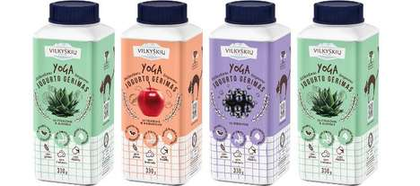 Athletic Yogurt Drinks - The Vilvi Yoga Beverages Provide Liquid Breakfasts Infused With Aloe