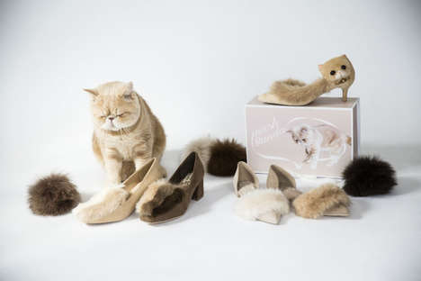 Feline-Inspired Footwear - This Cat Footwear Collection by Randa Celebrates a Popular Instagram Pet