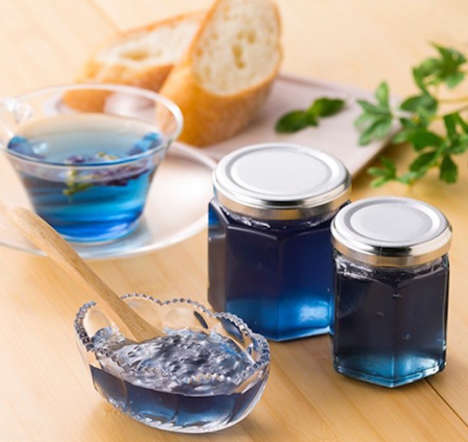 Blue Herb Jams - This Blue Jam Preserve from JT & Associates Boasts an Unusual Hue